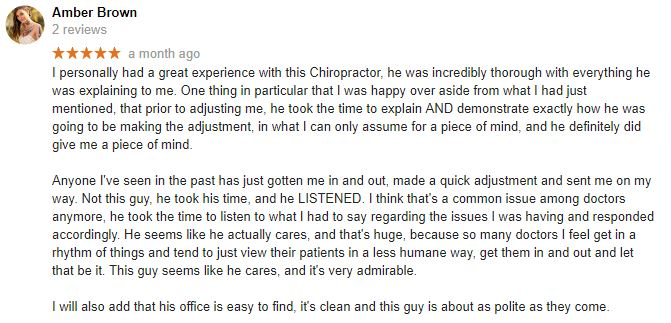 330 Chiropractic Patient Testimonial